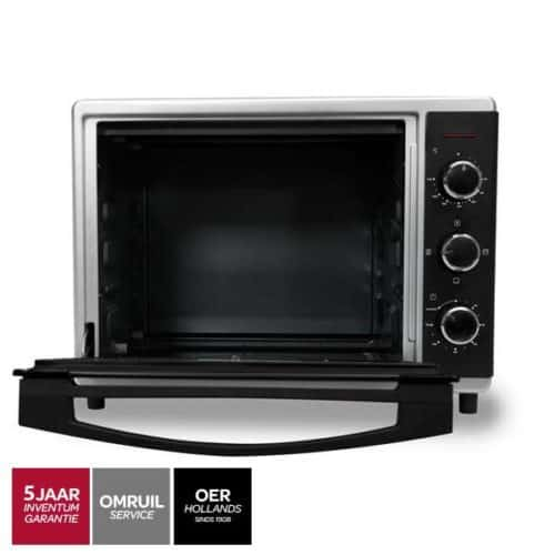 Inventum OV305CS oven zwart geopend