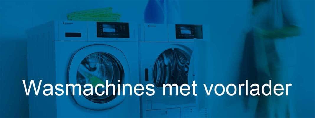Wasmachines met voorlader